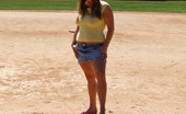 Young Fatties 148478 Cute College Fatty Flashes Pussy At Baseball Field