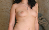 Young Fatties Full Brunette Dressed In Nothing Except Stockings