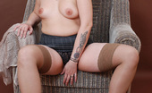 Young Fatties Naughty Tattooed Plumper In Sexy Tight Stockings
