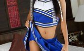 Thainee Perky Thai Teen Babe Thainee Strips Out Of Her Cheerleader Outfit