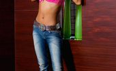 Thainee Petite Thai Teen Slowly Takes Off Her Pink Bra And Blue Jeans