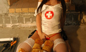 Kate's Playground Sexy Kate Does Bad Things To A Teddy Bear As She Strips Out Of Her Nurse Outfit