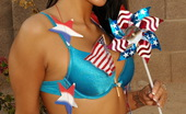 Kate's Playground Kates Sexy Girlfriend Rio Celebrates July 4th In A Very Patriotic Skimpy Outfit