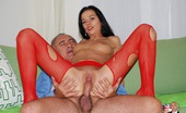 Jim Slip Gallery Th 32135 T Horny Babe Wearing Red Stockings Fucked Hardcore On A Couch