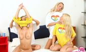 Young Busty Carol And Strawberry Sandy Four Naughty Busty Teenage Friends Going With Eachother