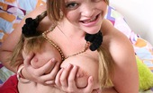 Young Busty Kissy Natural Teenie With Braces Showing Her Huge Teenage Boobs