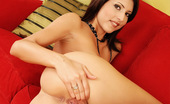 MC Nudes Alanis S. Red Couch Alanis Seem To Be Bored And Needs Some Distraction. Join This Horny Girl And See Her Spreading Legs For You.