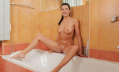 Wet And Pissy Vanessa Jordin Vanessa Jordin Sits At The Edge Of Her Bathtub And Takes A Piss In A Bottle