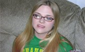True Amateur Models Destiny Amateur Teen Nerd With Glasses Models & Gives Handjob