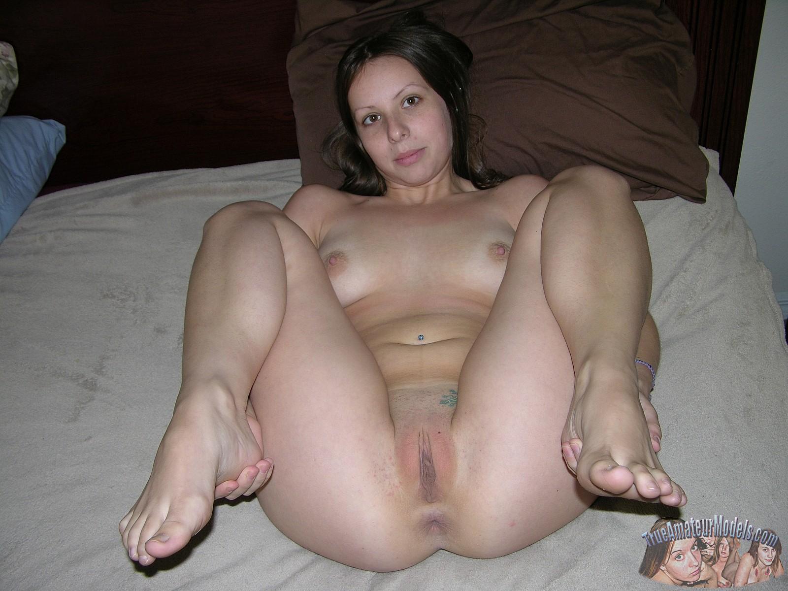 amatör naken brunett