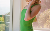 Ron Harris Kasey Chase Cute Blonde Sara James In Green Dress Candidly Spreading Her Pussy