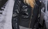 Fuck My Jeans Jannette Hackett Blonde Cutie In Dark Denim Jeans Takes Man Meat In Tight Ass