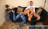 Fuck My Jeans Lenora Wright Blonde Shows Ass In Tight Blue Jeans Then Gets Hard Anal Fucking
