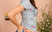 Fuck My Jeans Elaine Meadors Sexy Hottie In Butt Hugging Denim Shorts Strips And Poses On Bed