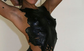 Ivy Black Ivy Covered In Latex Body Paint