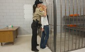 Caged Tushy Brunette Gets Cavity Search In Front Of A Girl