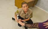 Caged Tushy Horny Female Cop Strip Searches A Black Girl