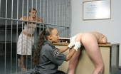 Caged Tushy Lesbian Gets Her Cellmate Naked For Jail Sex
