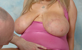Busty Britain Leah Jayne Gets Her Big Melons Sucked And Pussy Dildo Fucked