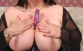 Busty Britain Plumper Angel Plays With Her Massive Juggs And Dildo Fucking