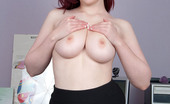 Busty Britain 167103 Jaye Rose Plays With Her Big Boobs And Dildo Fucks In Office