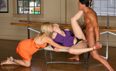 CFNM Secret Amazing Long Leg Adriana And Kimberly Tease Get Their Dance Instructor To Fuck Them While One Watches And Masterbates Her Sweet Pussy