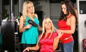CFNM Secret Victoria Check Out These Hot Milfs Take Advantage Of A Horny Dude In These Hair Salon 3some Reality Pics
