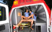 CFNM Secret India 2 Hot Big Tits Nurses Suck And Fuck A Patient In The Ambulance Check Out These Hot 3some Fuck Pics