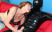 Club Tug Wrapped And Jacked Naughty Milf Dee Jacking Off A Man All Wrapped Up