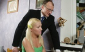 Tricky Old Teacher Anna Horny Old Professor Sticks His Hard Dick Into A Cute Young Blonde'S Juicy Teen Ass