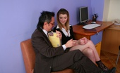 Tricky Old Teacher Donna Teen Coed Went To Her Teacher And Saw Him Rubbing His Cock Right In The Office. Donna Wanted To Have That Cock In Her Cunt.