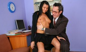 Tricky Old Teacher Jenny This Girl Turns Horny And Than She Can Think Only About Sex And Nothing Else. Aged Teacher Pet Her Pussy And She Fucked Him Right On The Floor.