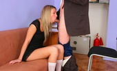 Tricky Old Teacher Yana Blond Chick Came To The Professor'S Office And In A While His Fat Rod Was Sliding Between Her Soft Pussy Lips.
