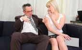 Tricky Old Teacher Candy When He Sees Candy Sitting There On The Sofa With Her Notebook In Her Hand, The Tricky Old Teacher Can'T Help Trying To Get Her Hands Around His Cock; He Succeeds Marvellously!