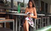 Public Violations Texting Bitch Gets Public Cum Disgrace