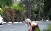 Public Violations Stupid Blonde Violated In Public