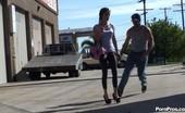 Public Violations Skinny Girl In Leggings Gets Sharked