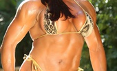 Aziani Iron Amber Deluca Big, Defined, Sexy And Shiny Describes Amber Deluca'S Awesome Muscles In This Hot Bikini Photo Set.