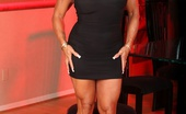 Aziani Iron DD DD'S Tan Body Makes Her Muscles Pop Out Even More, She Is Super Hot In This Photo Set. She Looks So Pretty In Her Black Dress And High Heels, Her Heels Make Her Legs Even Sexier If That Is Possible.