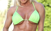 Aziani Iron Ashlee Chambers Bodybuilder Ashlee Chambers Strips From Her Bikini And Flexes Her Rock Hard Body.
