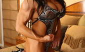 Aziani Iron Angela Salvagno Bodybuilder Angela Salvagno Poses Her Big Muscles And Strips Her Clothes Off.