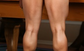 Aziani Iron Brandi Mae Bodybuilder Brandi Mae Flexes Her Big Muscles While Stripping Out Of Her Tight Dress.