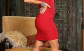 Aziani Iron Elisa Ann Sexy Fit Elisa Ann Strips Off Her Red Dress, Flexes Her Big Muscles And Has Some Dildo Fun.