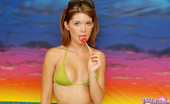 Diddylicious Diddy Shows Off Her Amazing Oral Skills With A Lollipop As She Strips Out Of Her Bikini