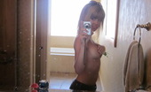 Diddylicious Petite Beauty Diddy Takes Selfshot Pictures In The Mirror While Teasing With Her Big Juicy Tits