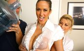 Big Tits Boss Brook These 2 Sexy Business Women Are Fucking The Shit Outta The Delivery Guy In These Hot Pics