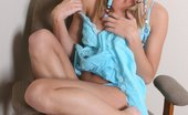 McKenzie Miles A Barely Legal Blond In Pigtails Slowly Revealing Her Body