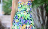 La Zona Modelos Aurora Guerra Slips Off Her Summer Dress To Cum Hard To Her Magic Wand