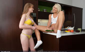 Joy Mii Faye R. & Lexi S. Games Not_set Lexi S. and Faye R. are hanging out in Faye's kitchen in their underwear. Faye tells Lexi about the big guy she's seeing, how big he is, and pulls out a cucumber to demonstrate. Lexi says she could take him, and Faye wants to see if Le