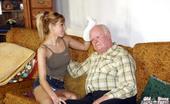 Old Farts Young Tarts Nathalie & Mireck Grandpa Seduces His Teenage Nurse To Blow His Tiny Erection